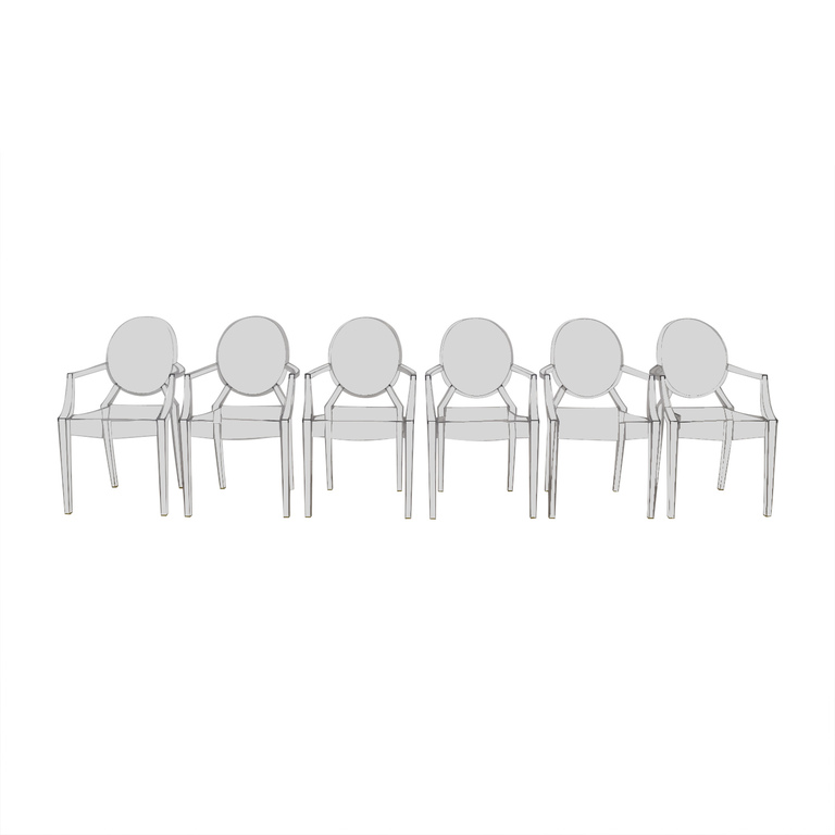 buy Kartell Phillippe Starck Louis Ghost Chairs Kartell