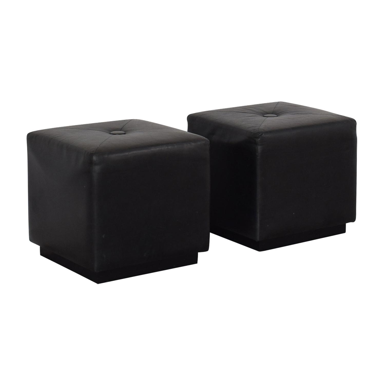 shop Black Ottomans  Chairs