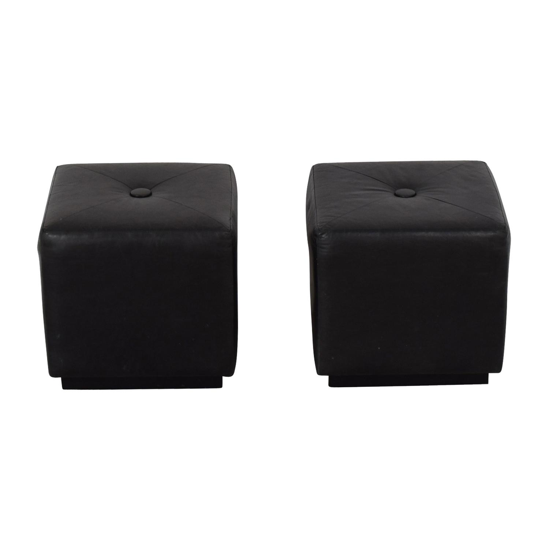 Black Ottomans / Chairs