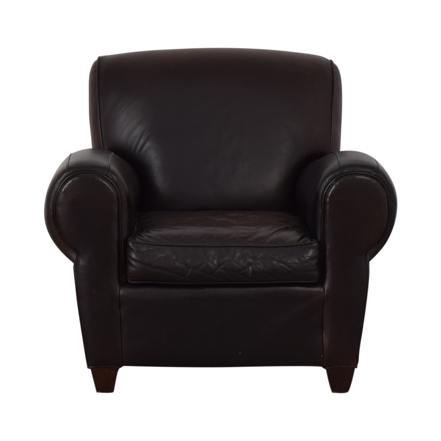 70% OFF   Pottery Barn Pottery Barn By Mitchell Gold + Bob Williams Brown  Club Chair / Chairs