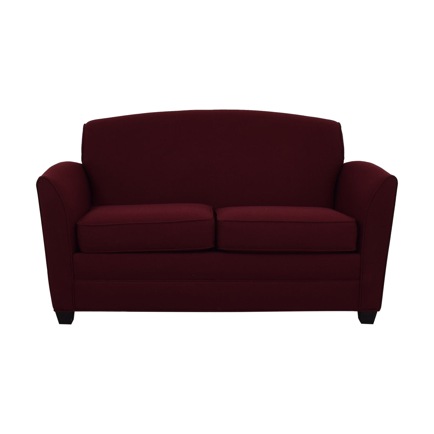 buy HON Furniture Two-Cushion Red Couch HON Furniture