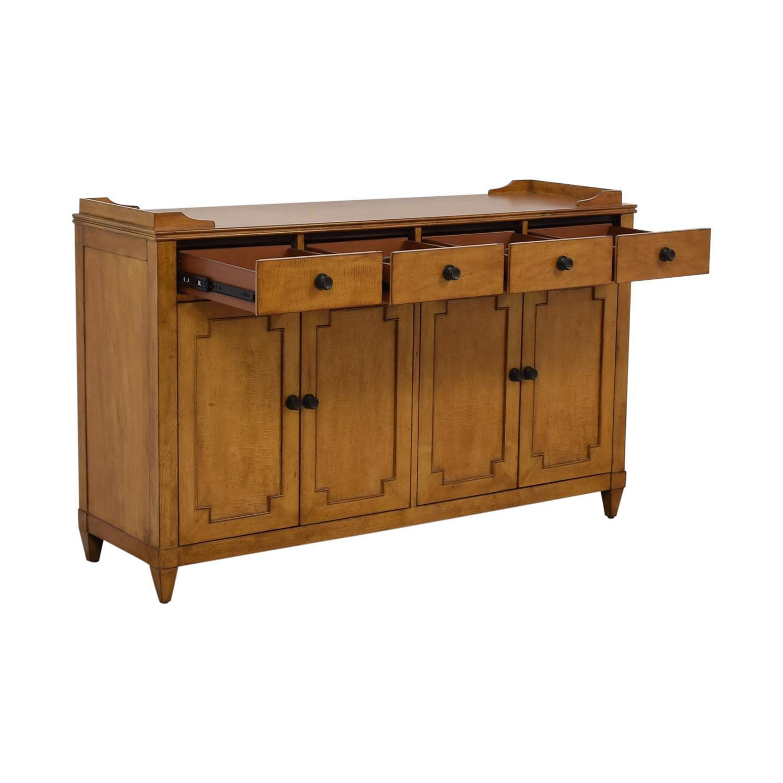 shop Hooker Lucy Wood Four-Drawer Sideboard Hooker Cabinets & Sideboards