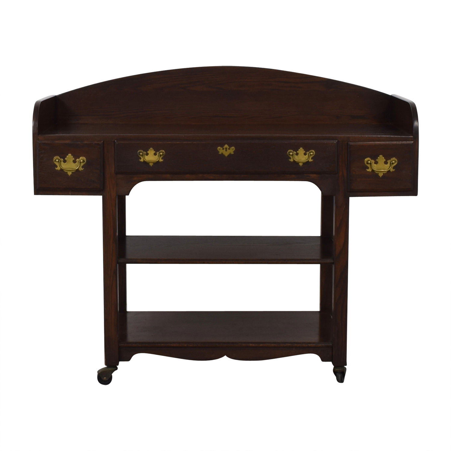 shop Three-Drawer Wood Sideboard on Castors  Accent Tables