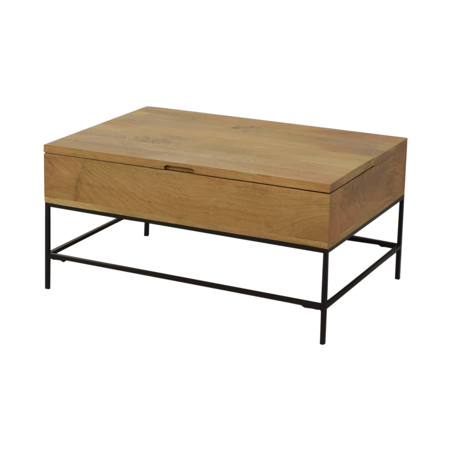 West Elm West Elm Industrial Storage Pop-Up Coffee Table on sale