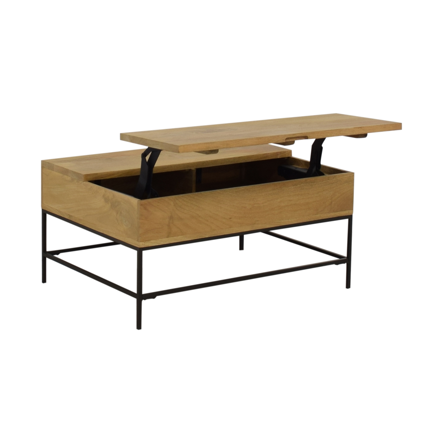 shop West Elm Industrial Storage Pop-Up Coffee Table West Elm