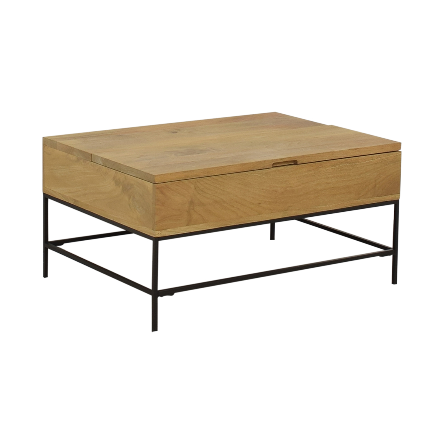 buy West Elm Industrial Storage Pop-Up Coffee Table West Elm Coffee Tables