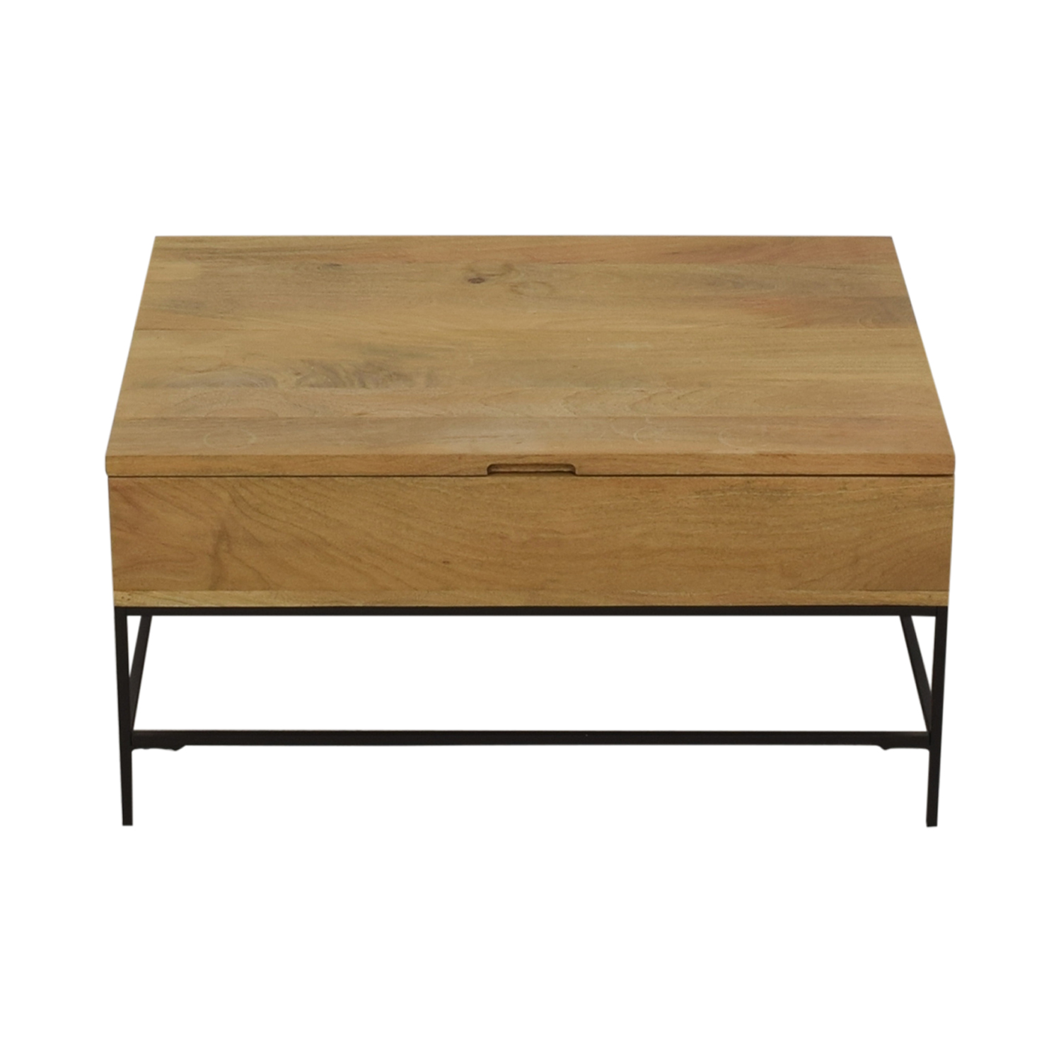 West Elm West Elm Industrial Storage Pop-Up Coffee Table
