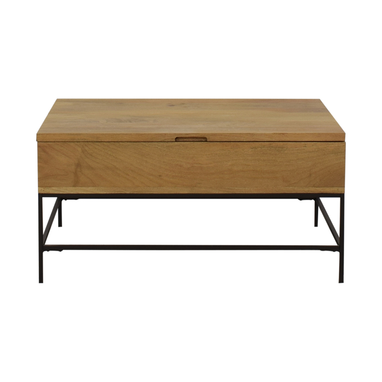 shop West Elm Industrial Storage Pop-Up Coffee Table West Elm Tables