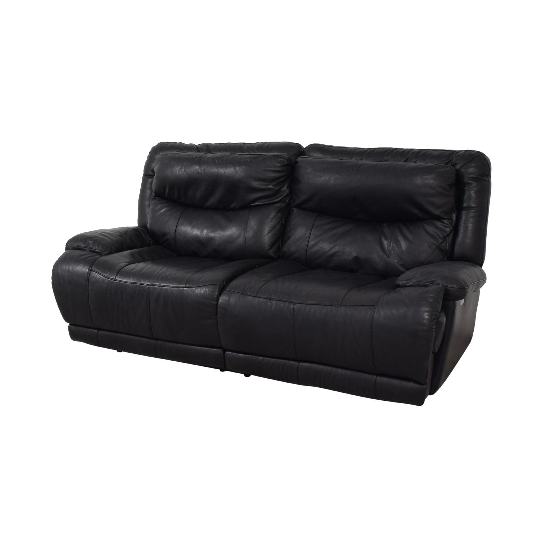 shop Black Electric Recliner Sofa