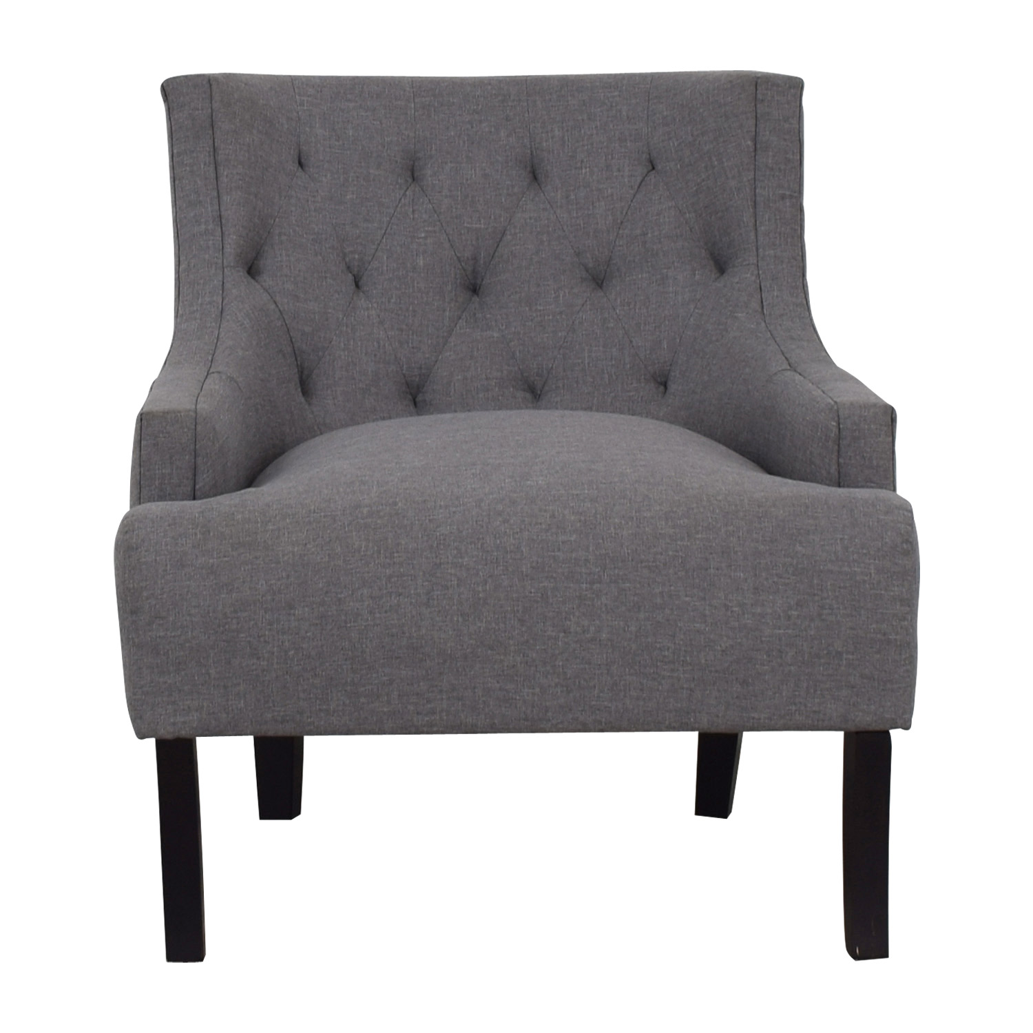 48 Off Hayneedle Hayneedle Tufts Grey Tufted Accent Chair Chairs