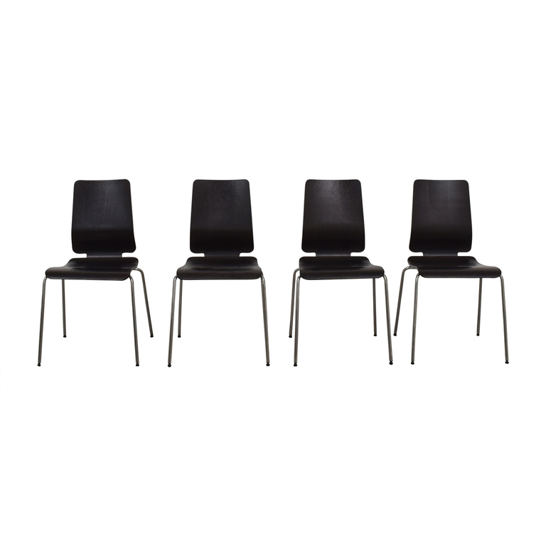 shop IKEA Gilbert Wood and Chrome Chairs IKEA Chairs