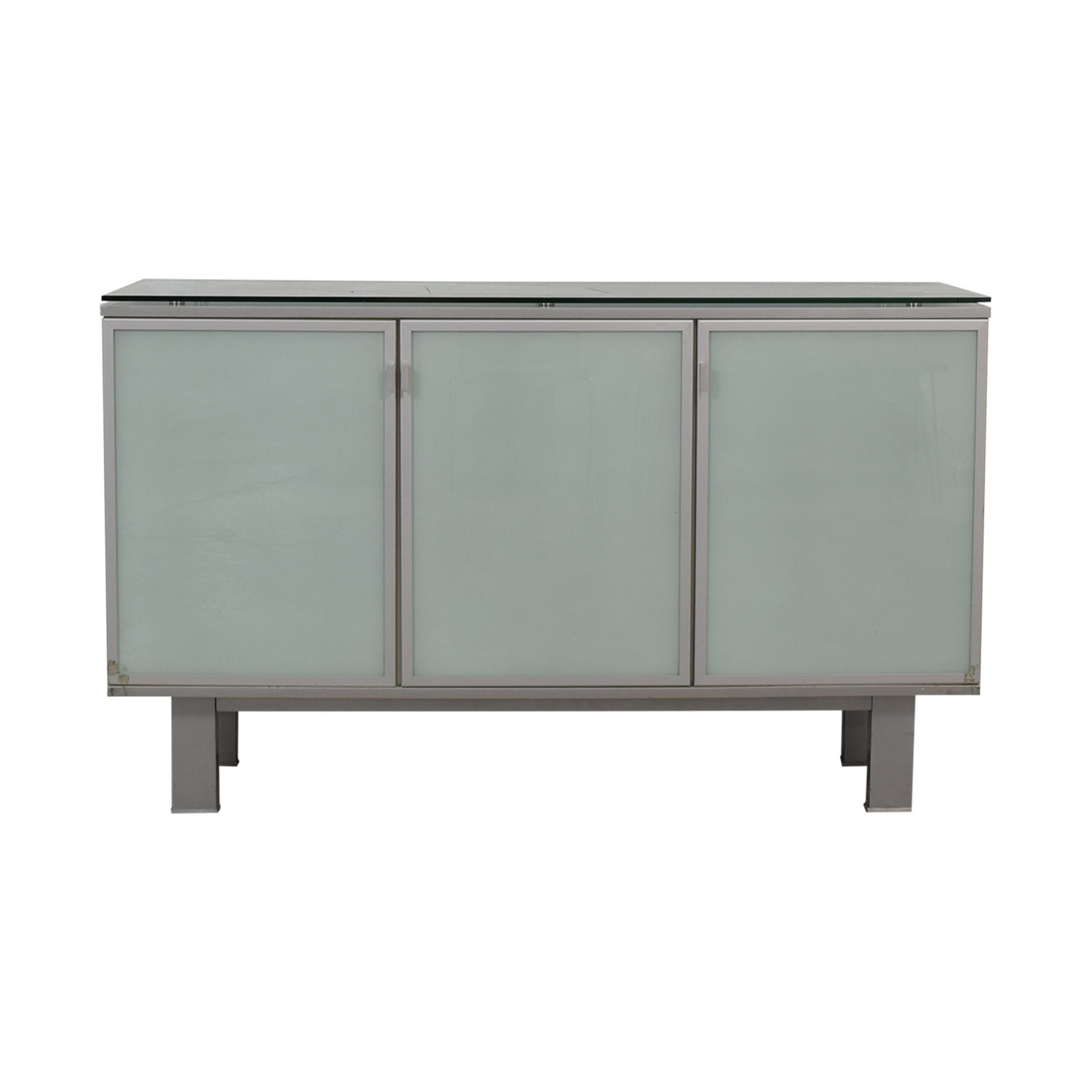 89 Off Green Glass Credenza Storage