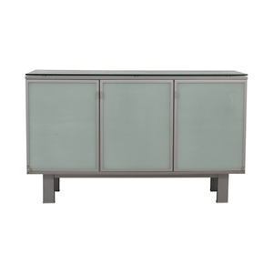 shop Green Glass Credenza  Storage