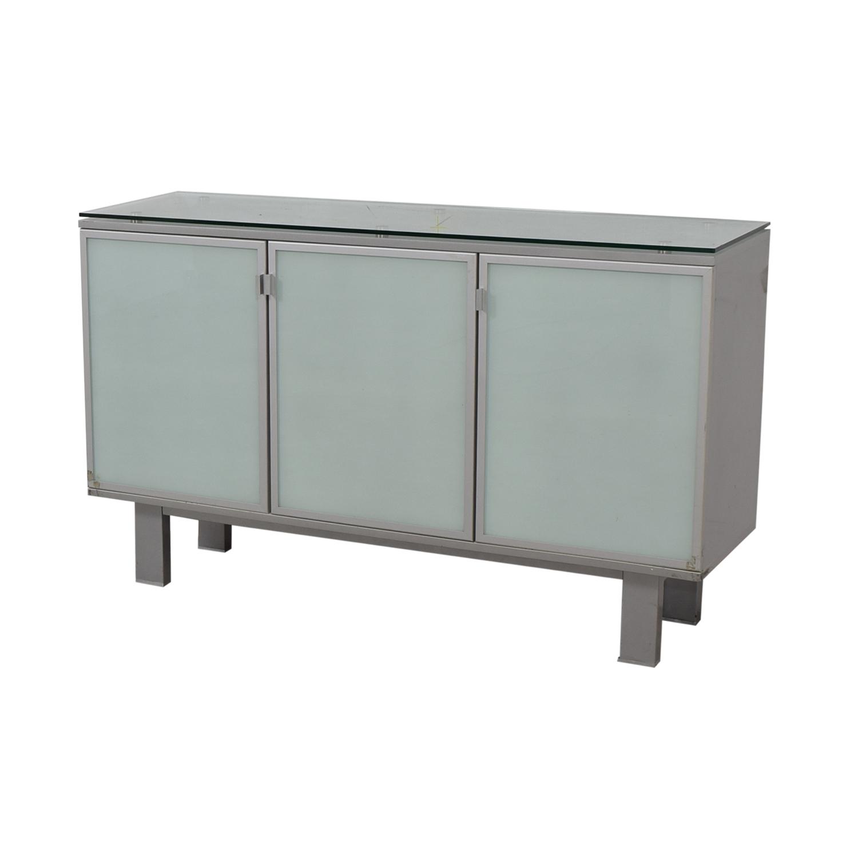 Green Glass Credenza Storage