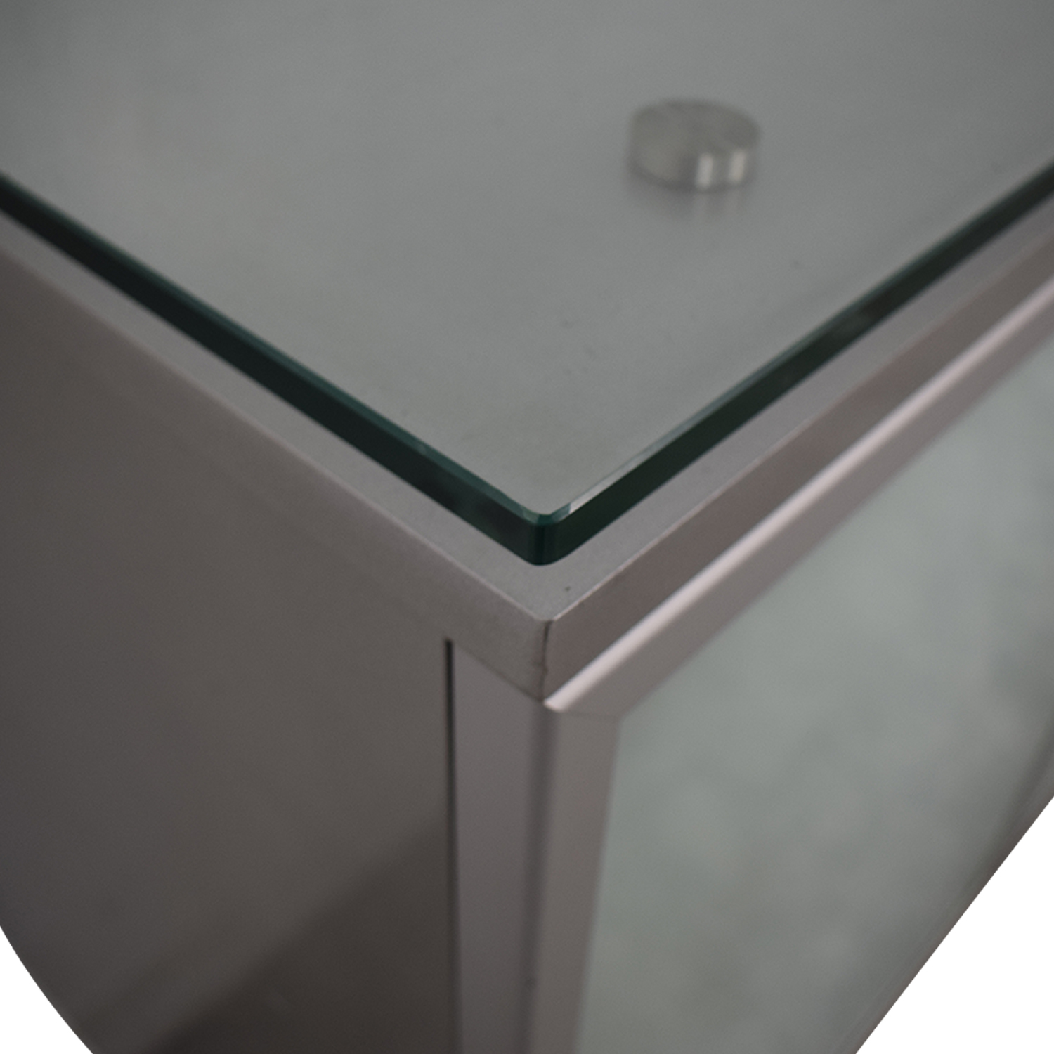 Green Glass Credenza / Cabinets & Sideboards