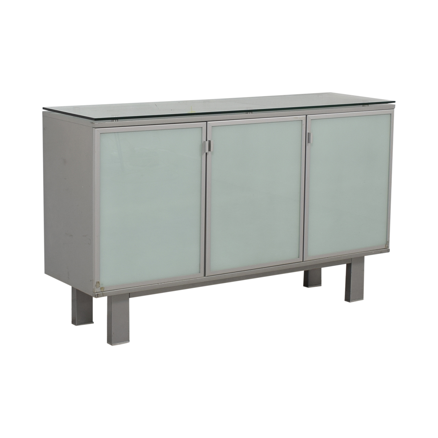 Green Glass Credenza on sale