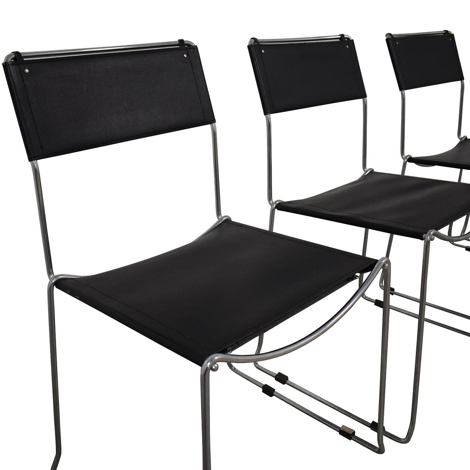 Design Within Reach Black Stacking Chairs Design Within Reach
