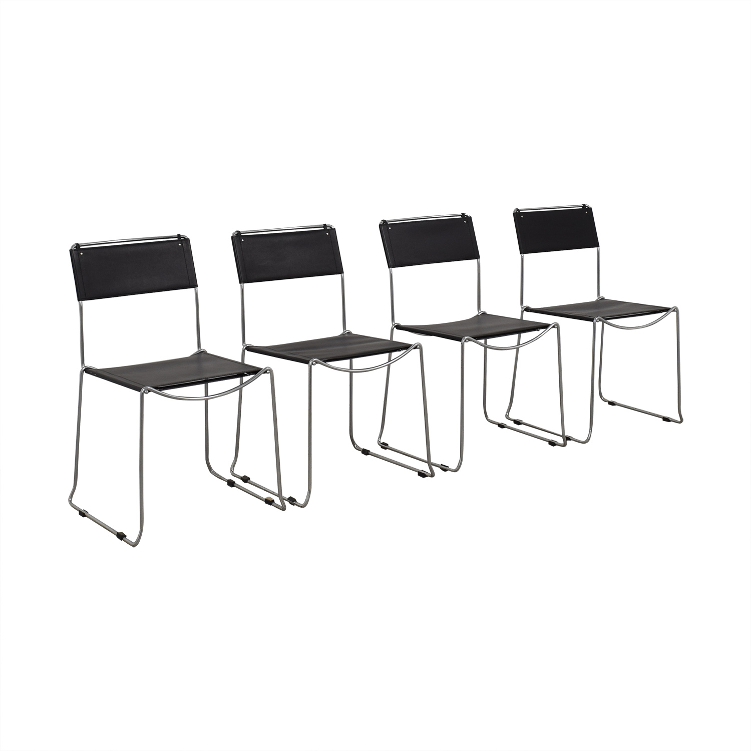 Design Within Reach Design Within Reach Black Stacking Chairs price