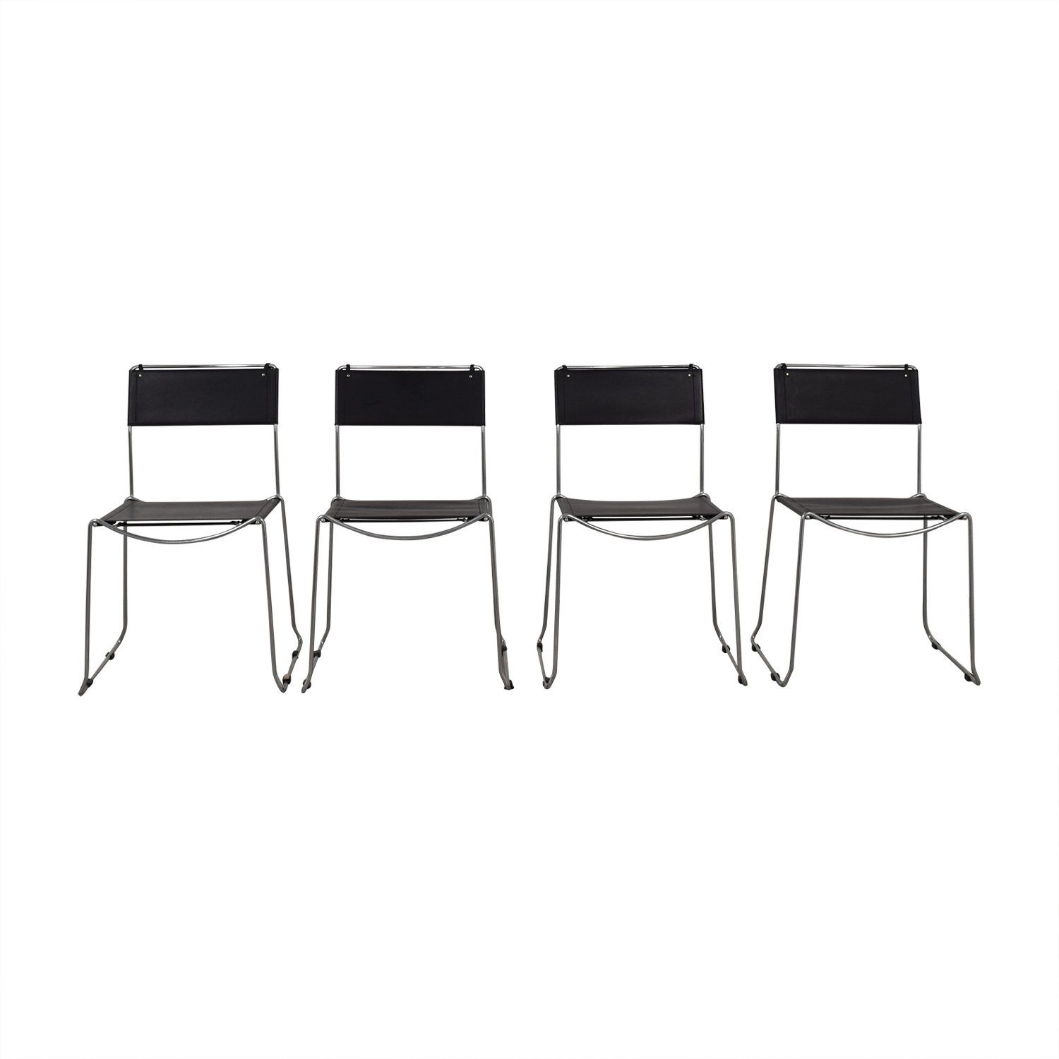 Design Within Reach Design Within Reach Black Stacking Chairs black