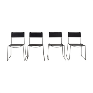Design Within Reach Design Within Reach Black Stacking Chairs used