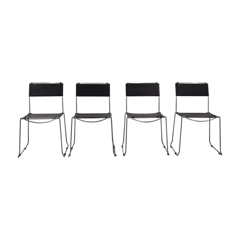 Design Within Reach Design Within Reach Black Stacking Chairs