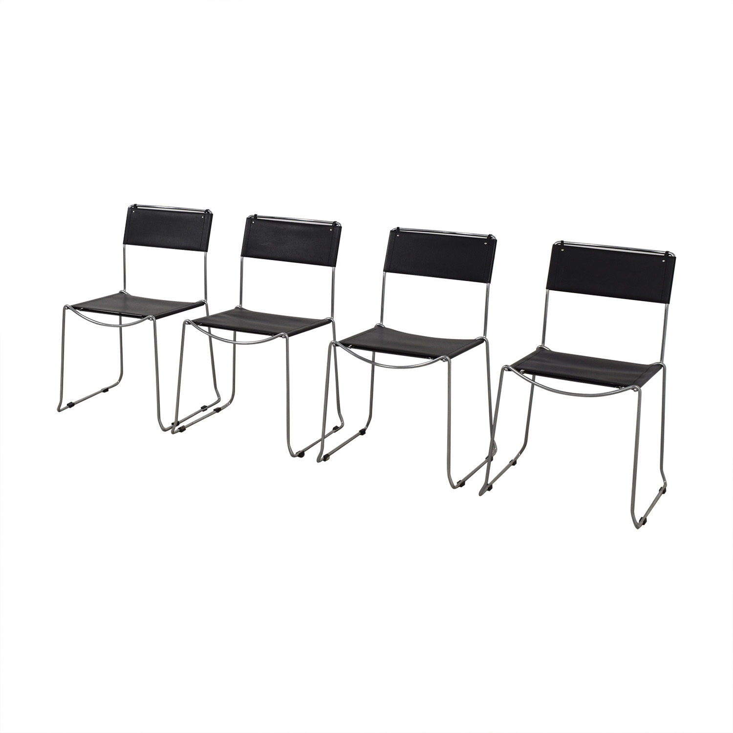 buy Design Within Reach Black Stacking Chairs Design Within Reach Chairs