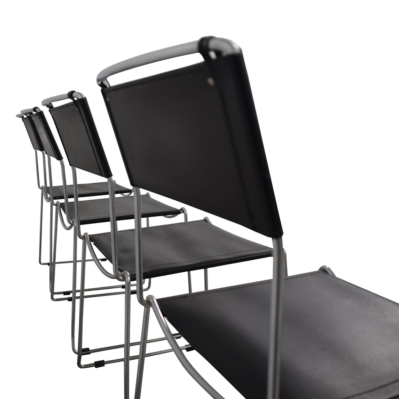 Brilliant 78 Off Design Within Reach Design Within Reach Black Stacking Chairs Chairs Uwap Interior Chair Design Uwaporg