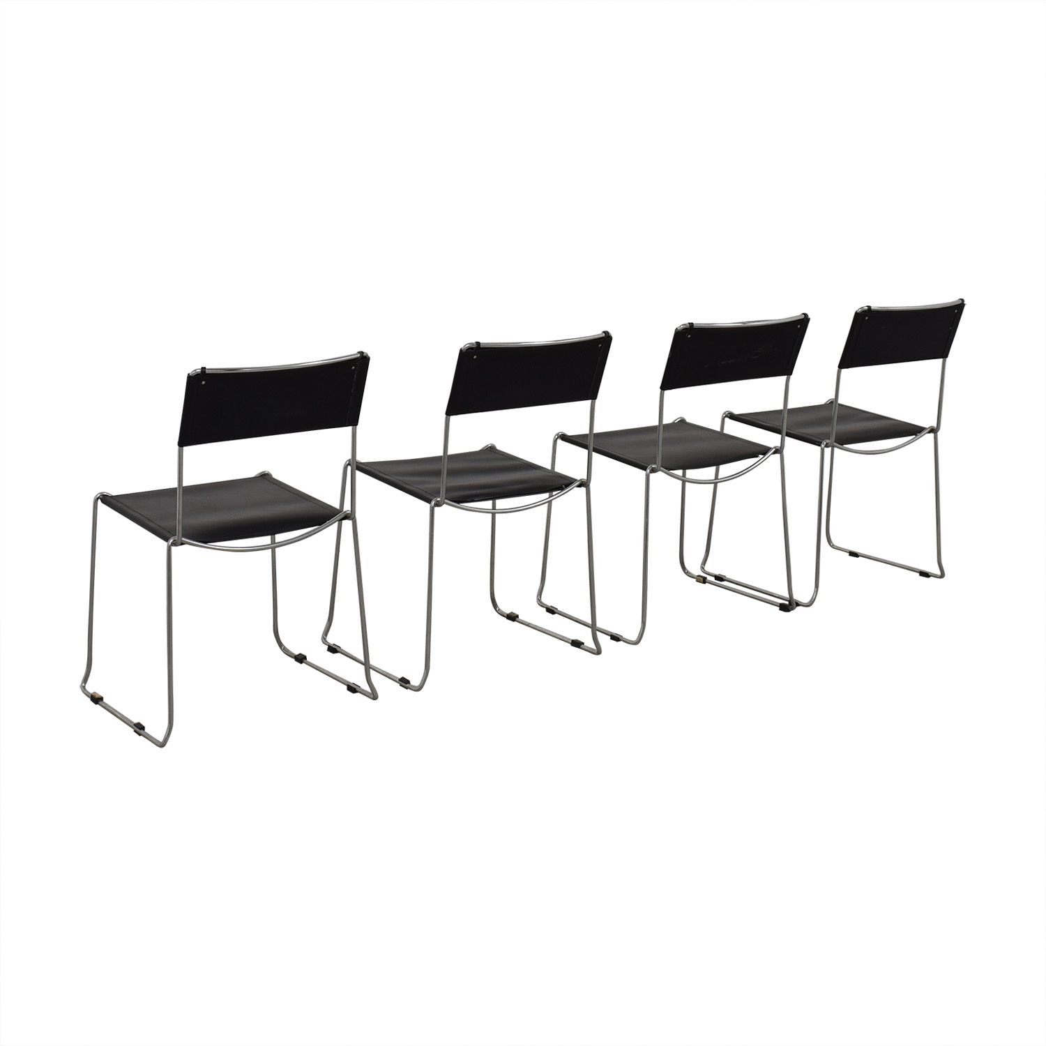 shop Design Within Reach Black Stacking Chairs Design Within Reach Dining Chairs