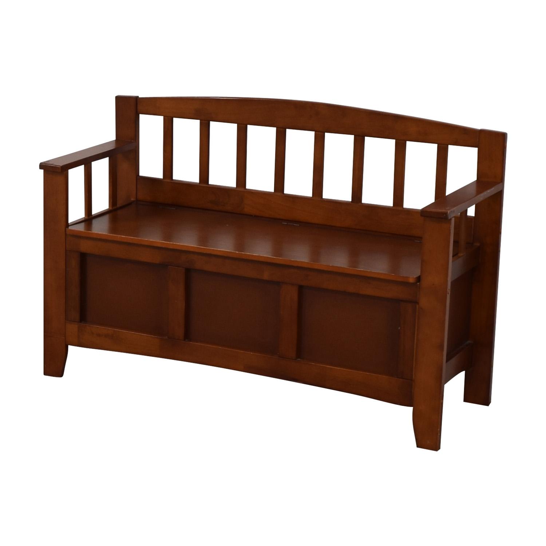 Wood Storage Bench coupon