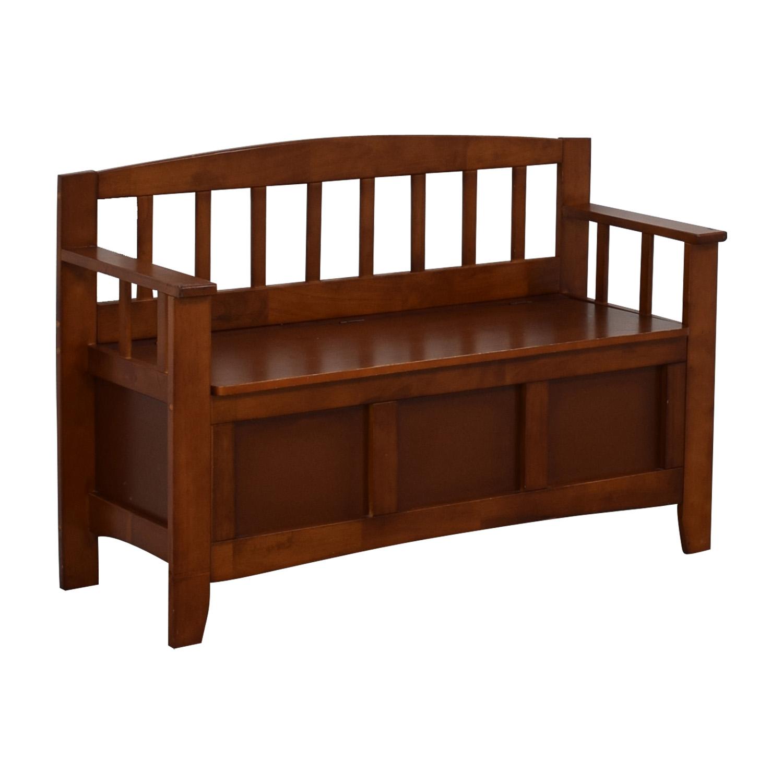 Wood Storage Bench nyc