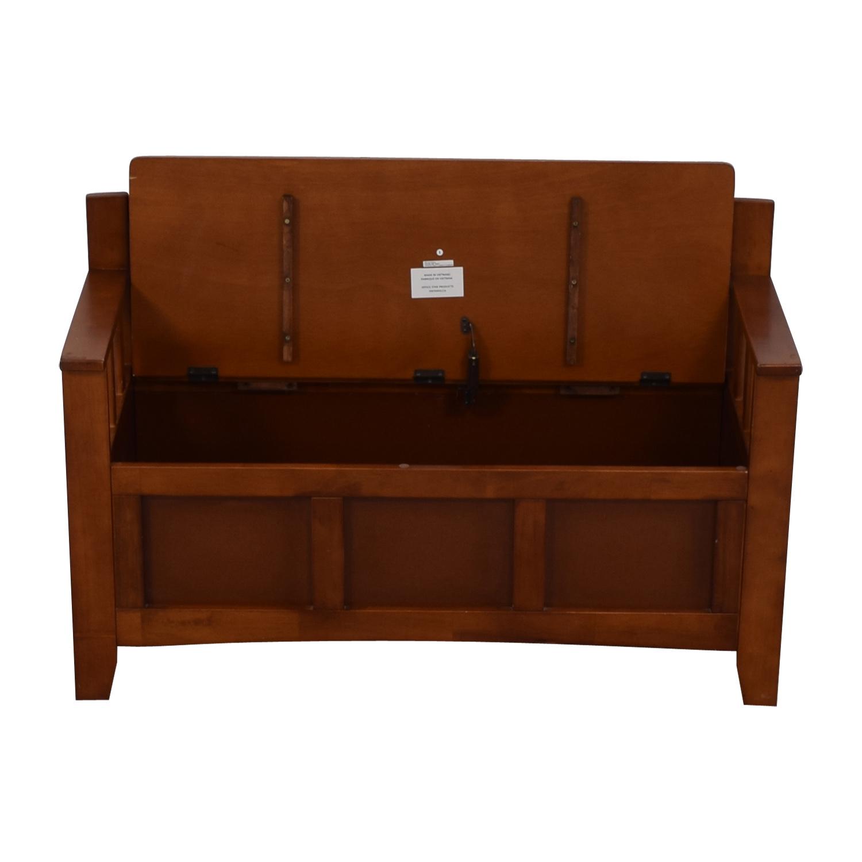 Wood Storage Bench brown