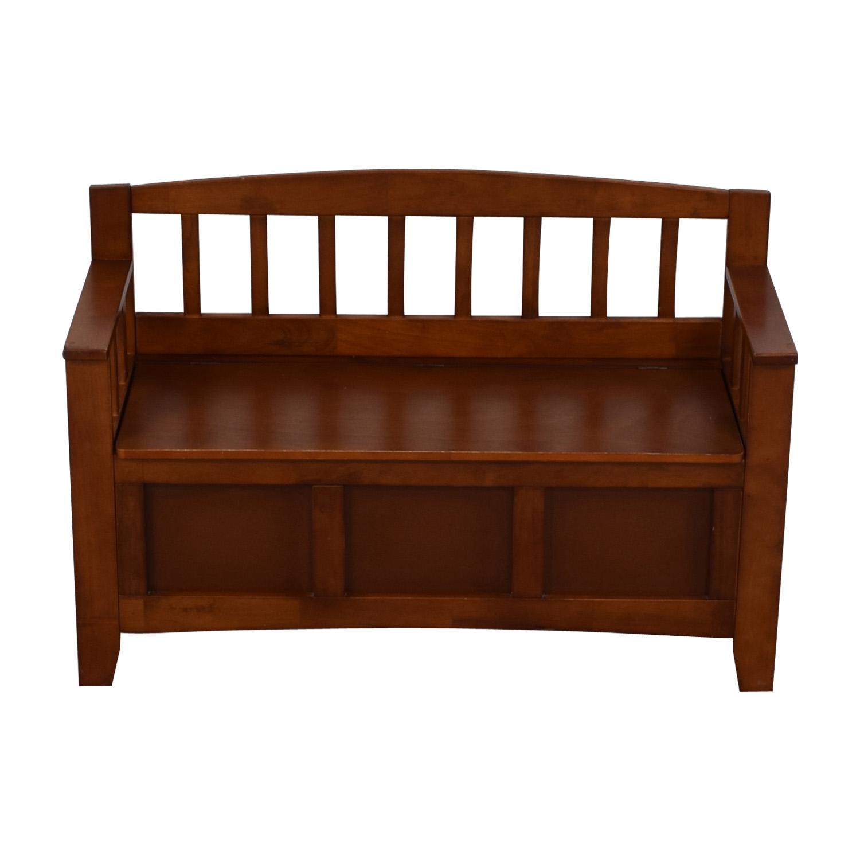 shop Wood Storage Bench  Chairs
