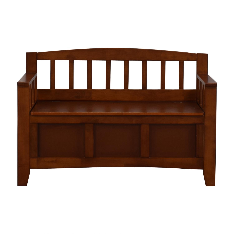Wood Storage Bench sale