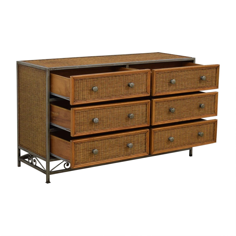 Pier One Imports Pier One Imports Miranda Wicker Six-Drawer Dresser for sale