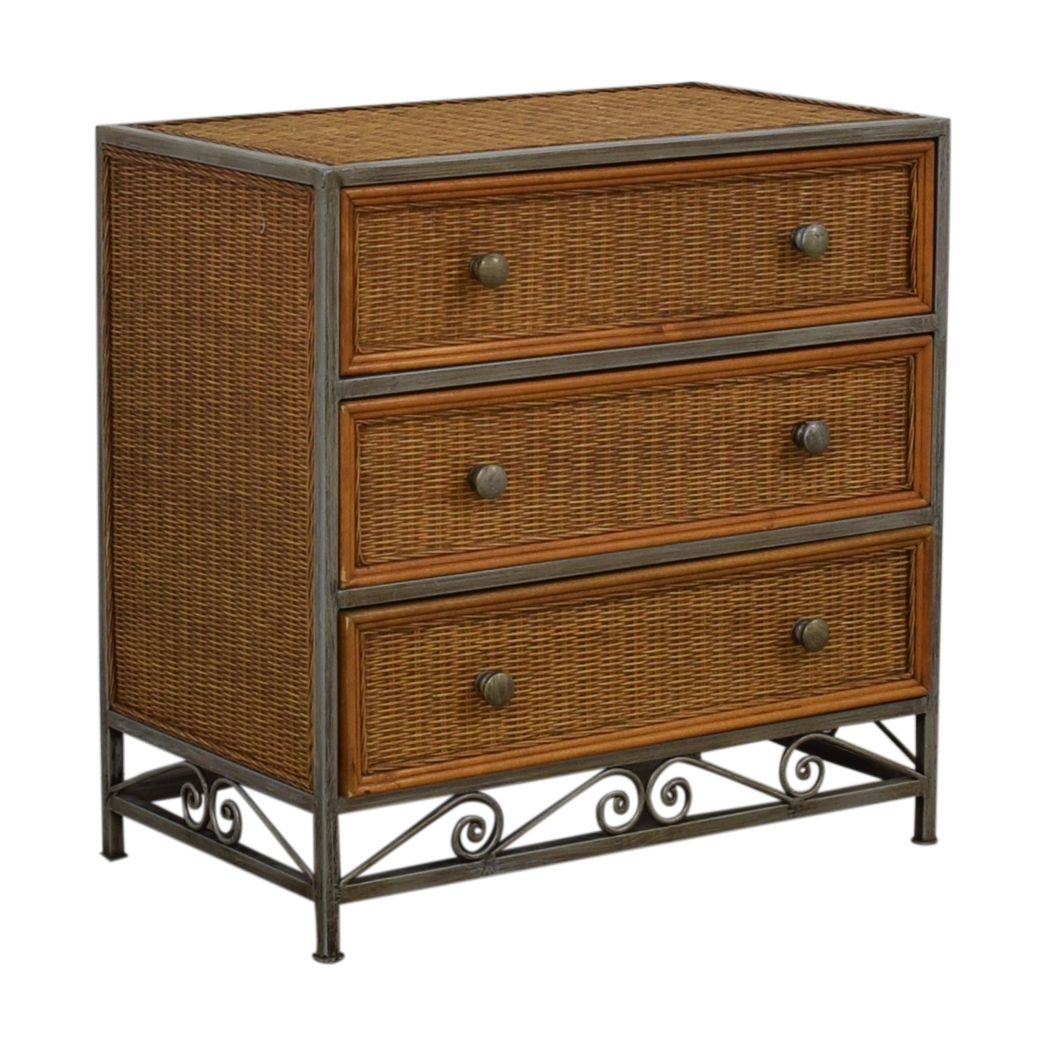 shop Pier 1 Imports Miranda Three-Drawer Wicker Dresser Pier 1 Imports