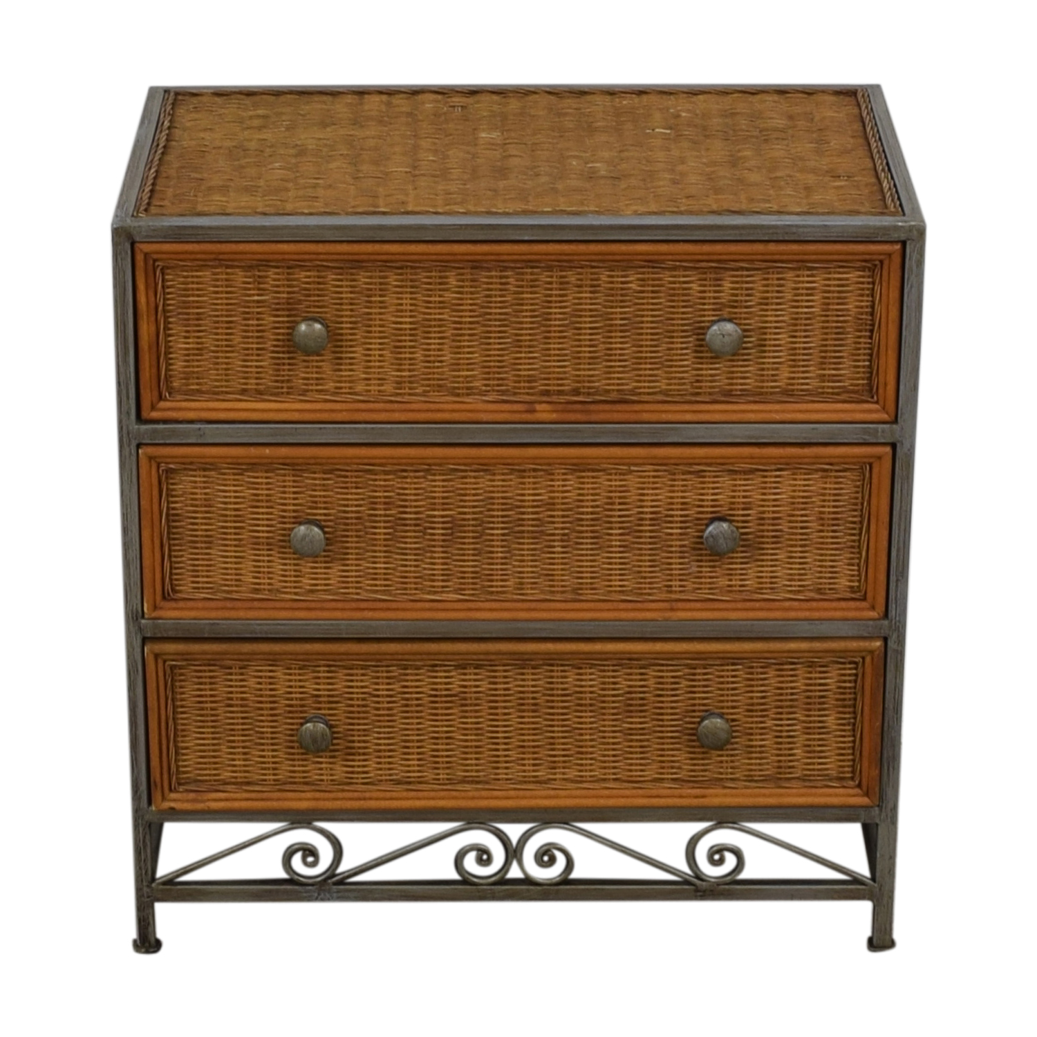 Pier 1 Imports Miranda Three-Drawer Wicker Dresser sale