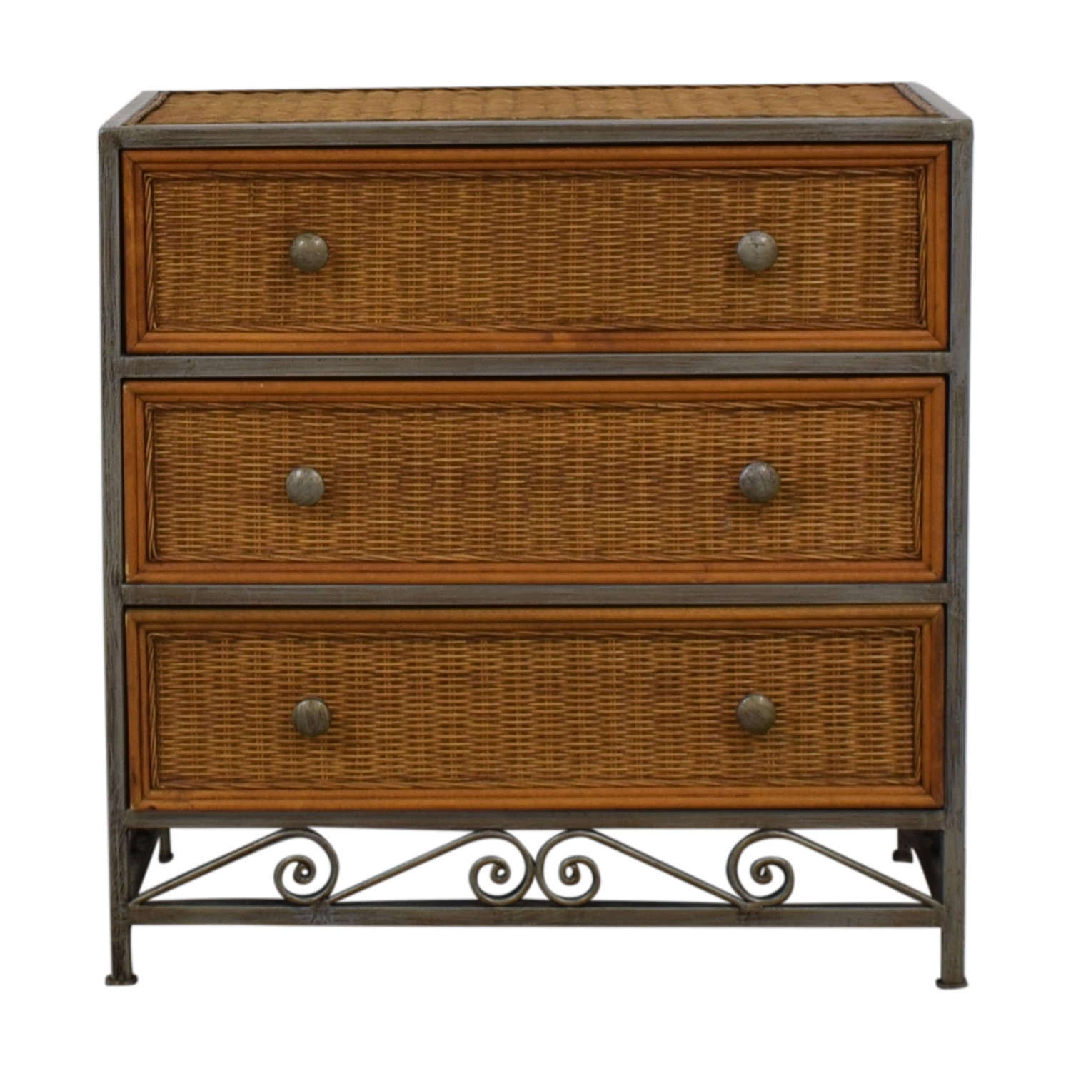 Pier 1 Imports Pier 1 Imports Miranda Three-Drawer Wicker Dresser nj