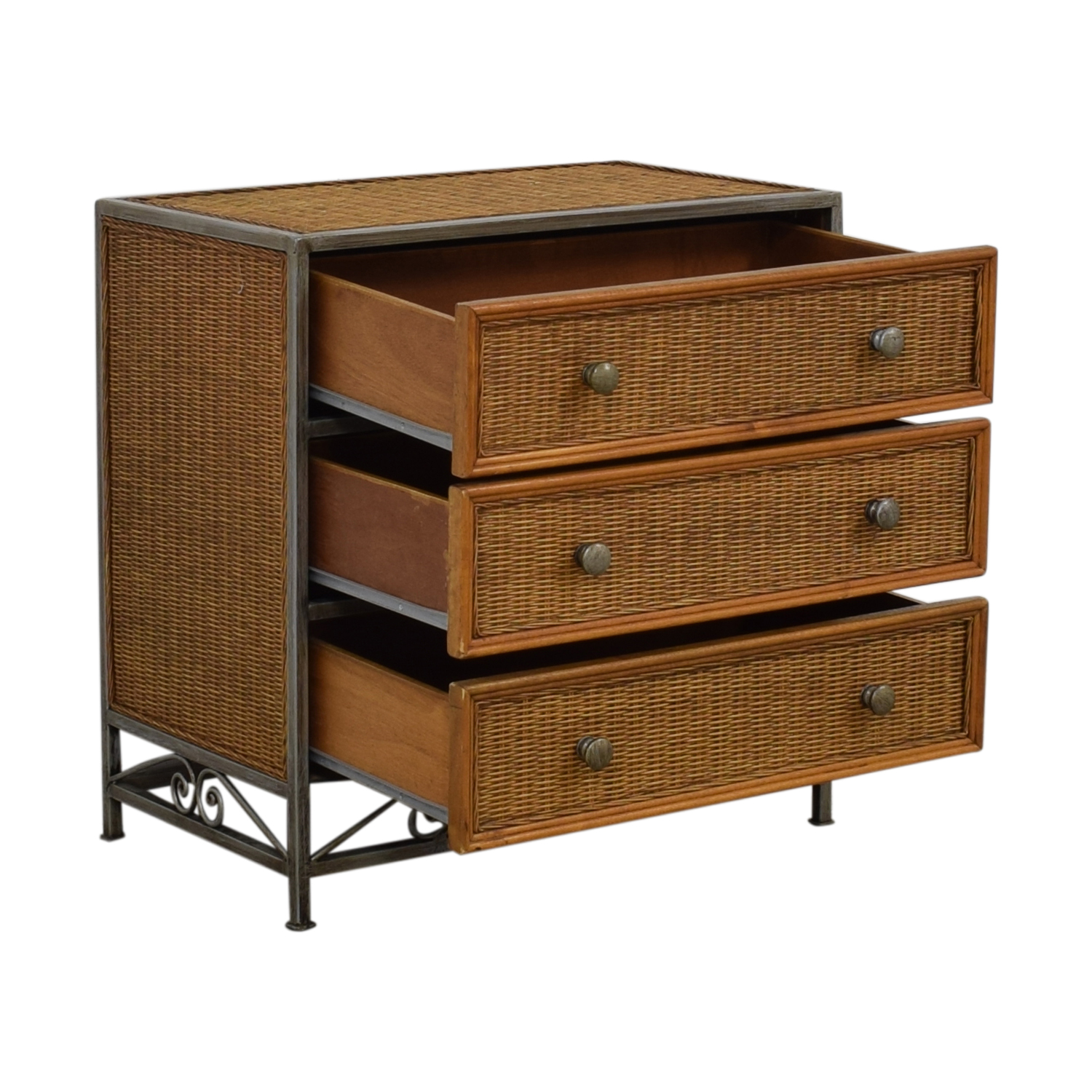 Pier 1 Imports Pier 1 Imports Miranda Three-Drawer Wicker Dresser