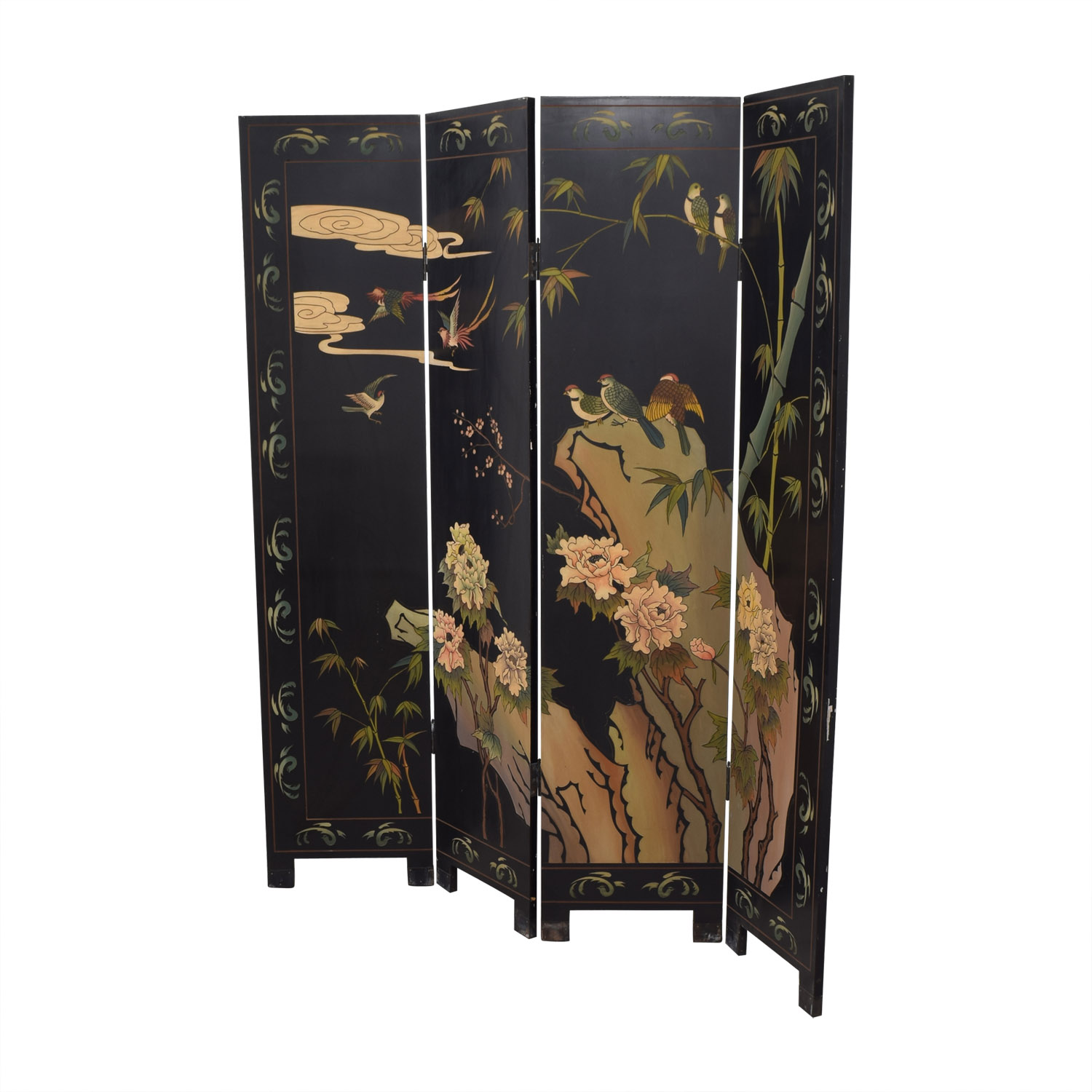 Asian Black Partition multi color
