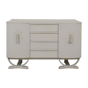 Antique Regency Style White Four-Drawer Sideboard Credenza on sale