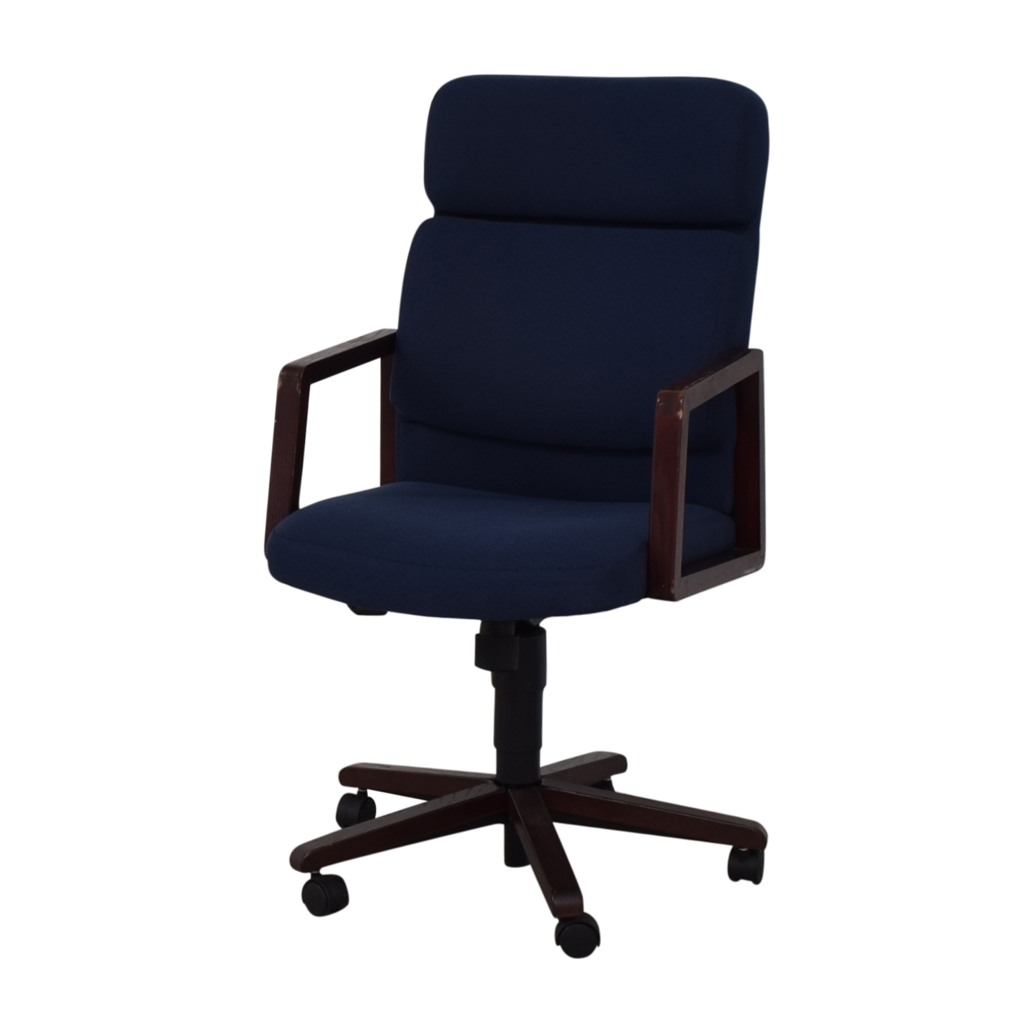 Blue Office Chair on Castors dimensions