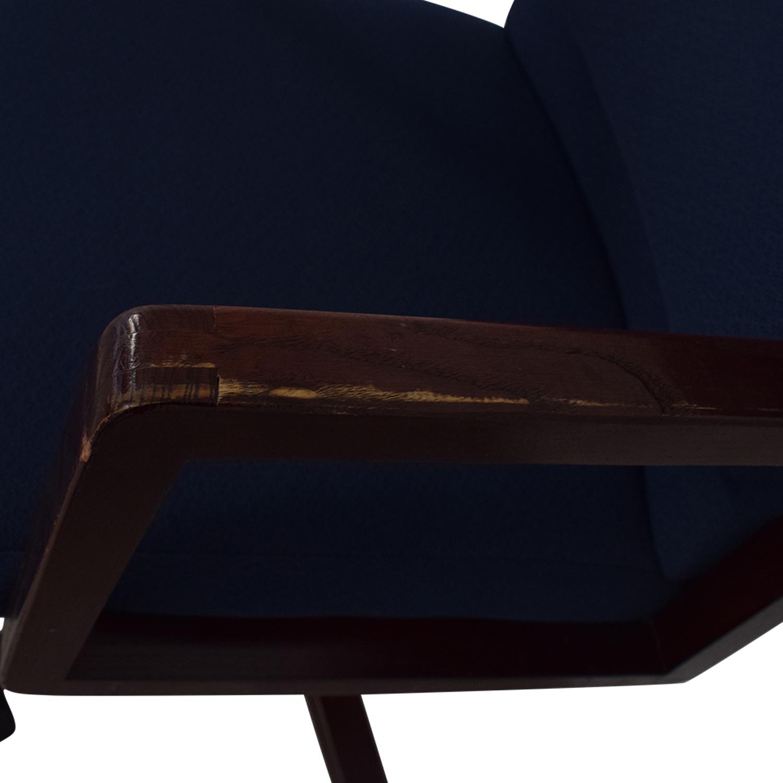 Blue Office Chair on Castors on sale