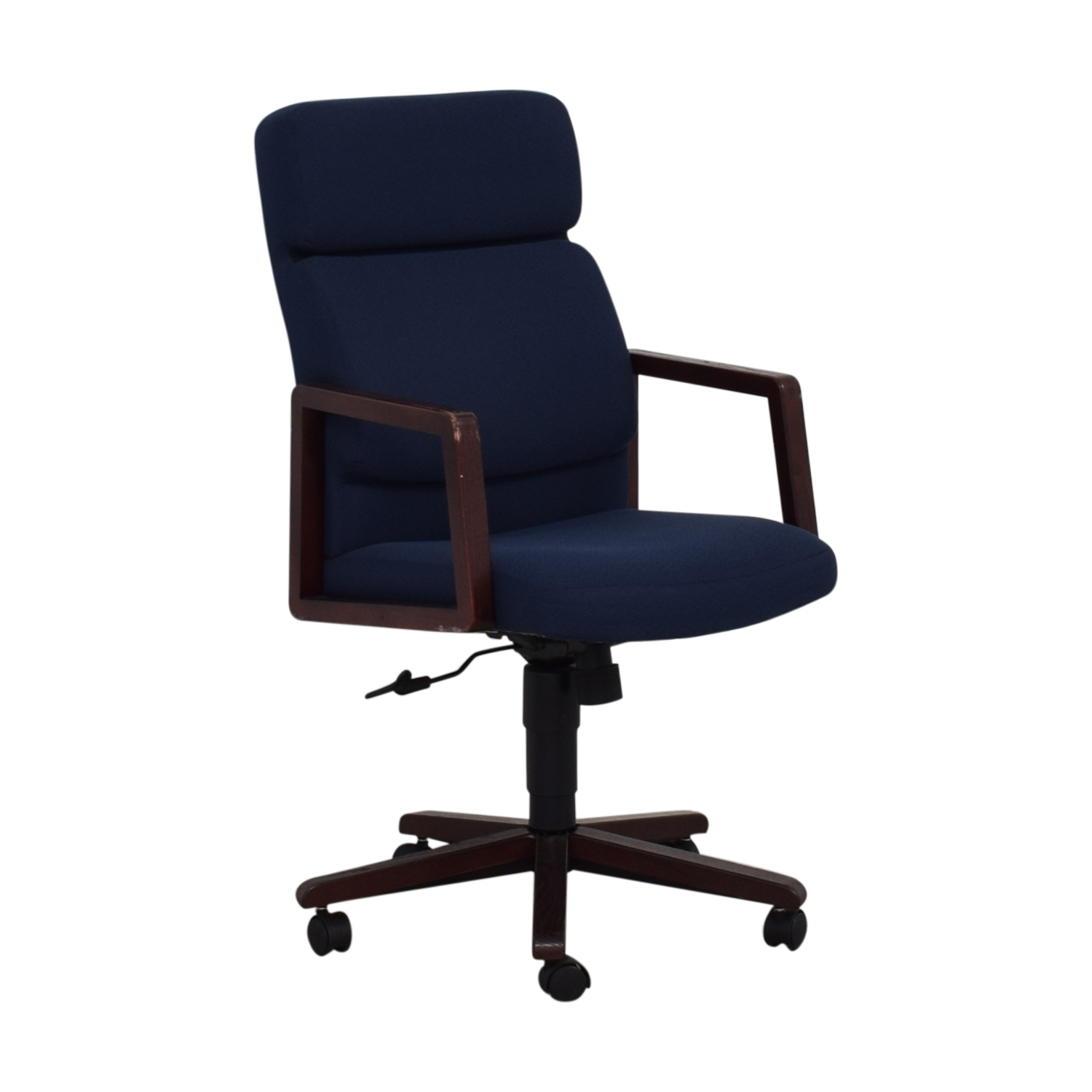 Blue Office Chair on Castors / Chairs