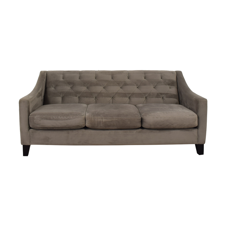 Max Home Grey Tufted Three-Cushion Sofa Max Home
