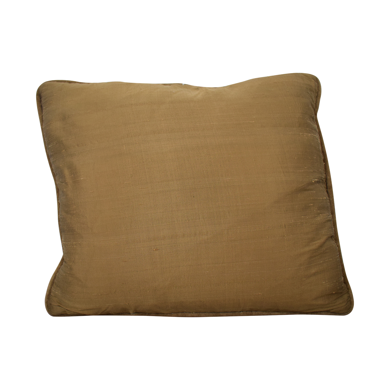 Custom Made Beige Multi-Colored Decorative Pillow / Decor