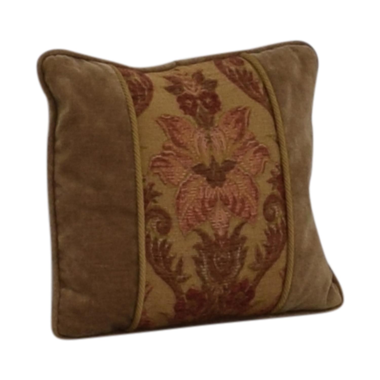 Custom Made Beige Multi-Colored Decorative Pillow nj