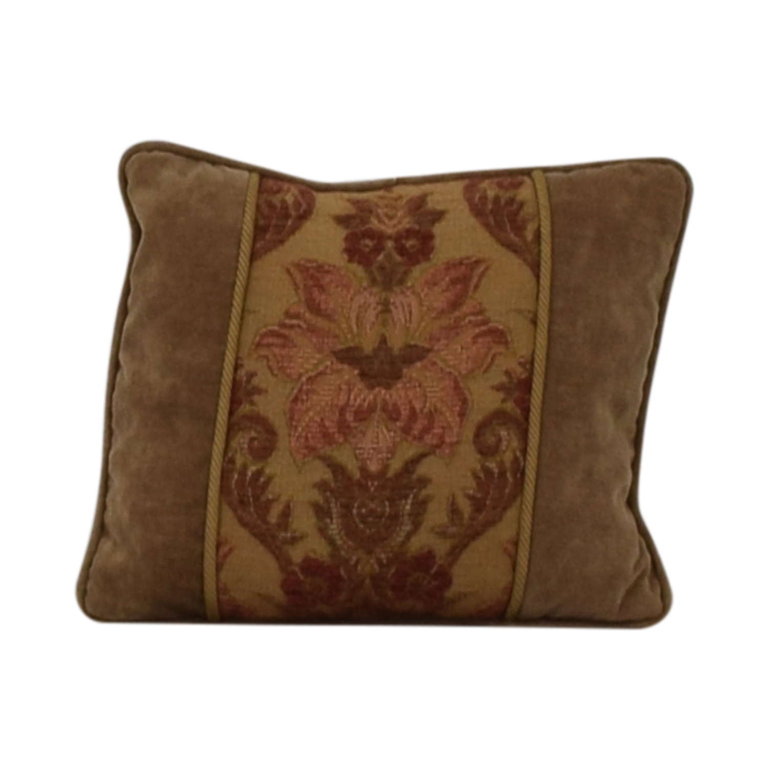 Custom Made Beige Multi-Colored Decorative Pillow second hand