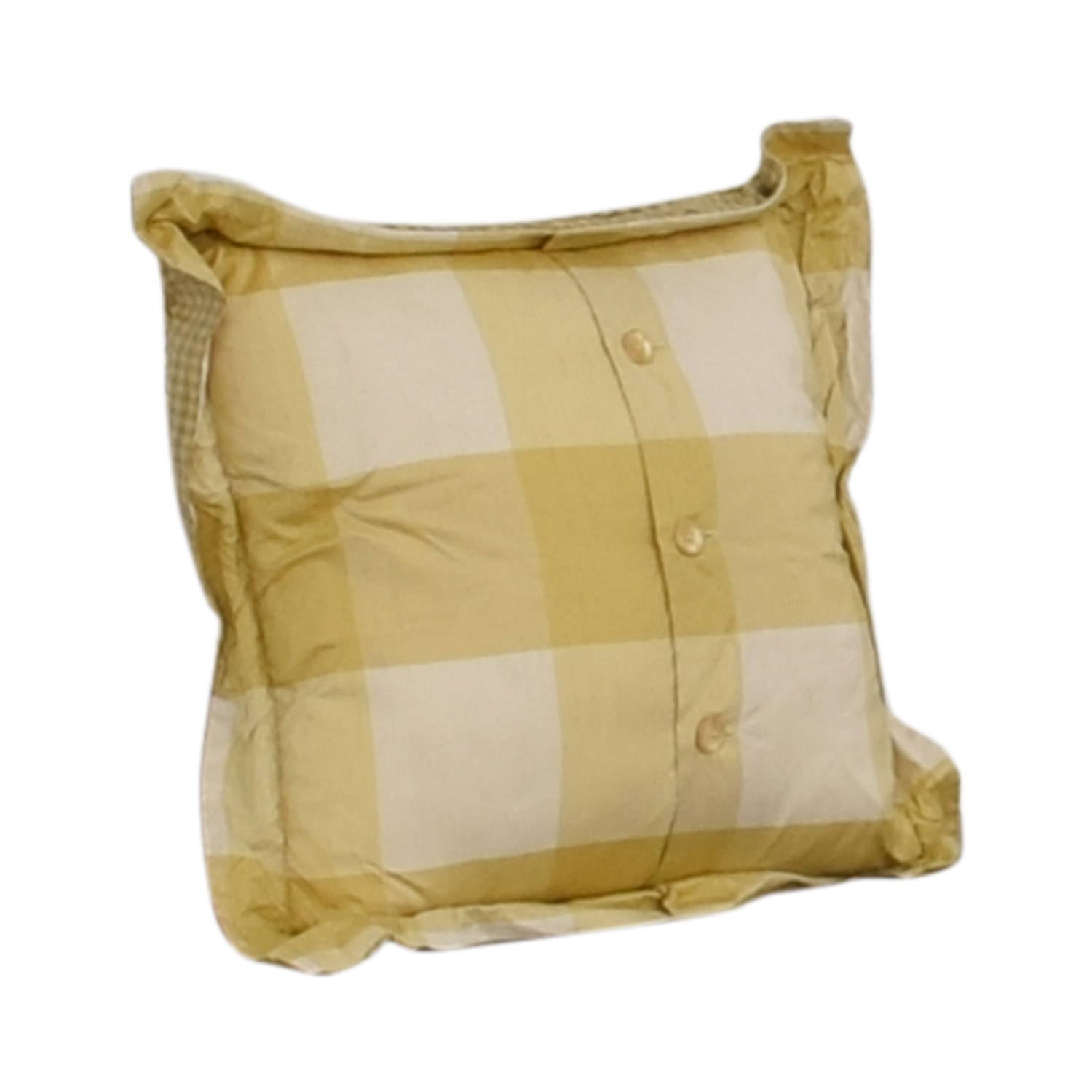 Custom Gold and White Decorative Pillow price