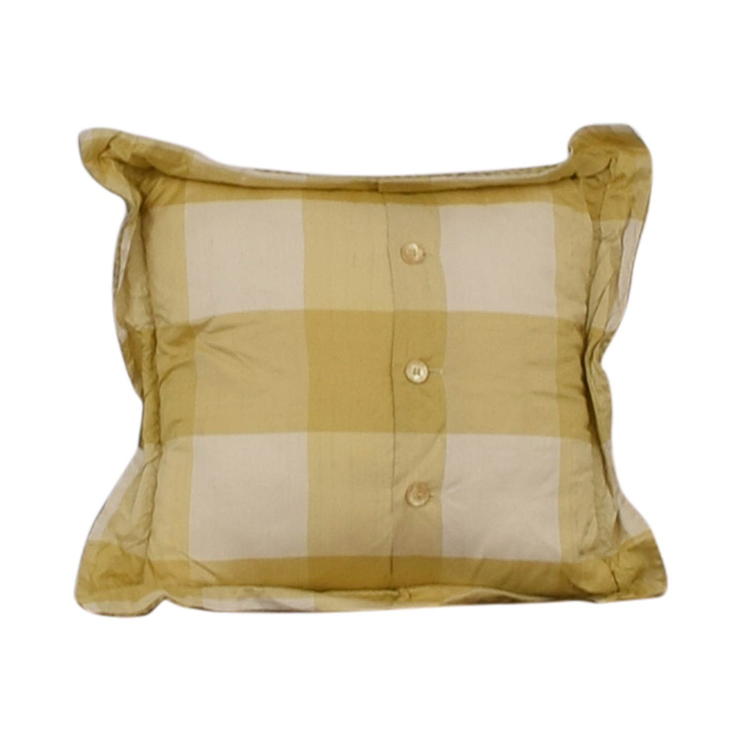 Custom Gold and White Decorative Pillow dimensions