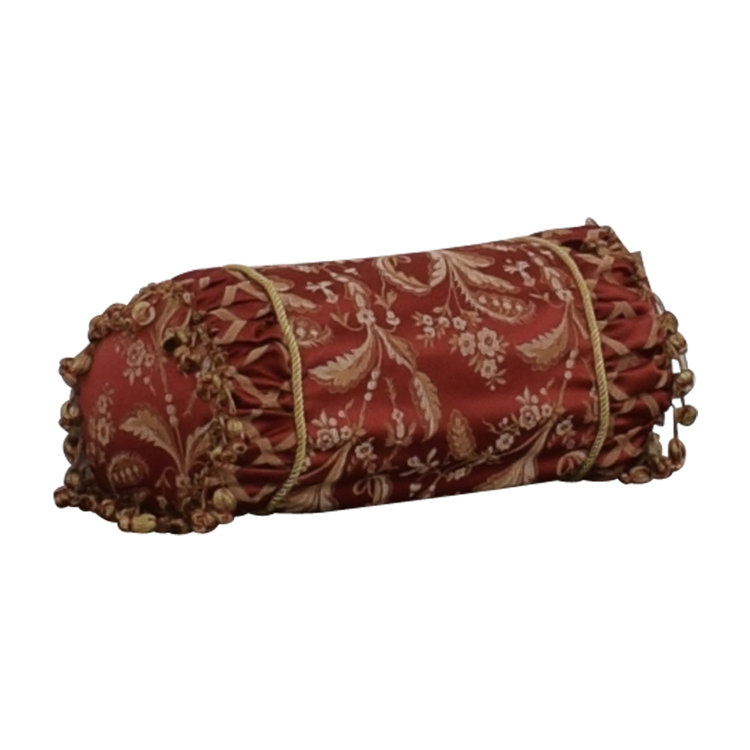 Custom Red and Gold  Decorative Neck Pillow on sale